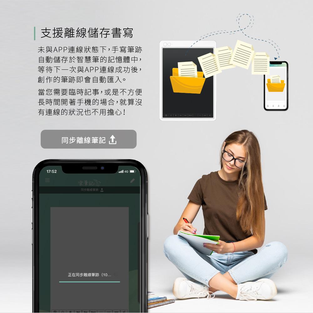 Green Board 電子筆記手寫板 離線書寫 手寫儲存