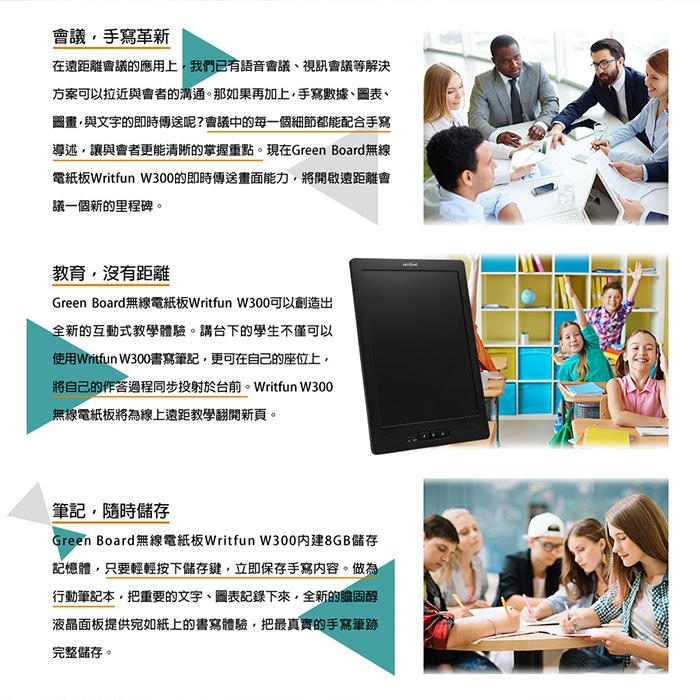 Green Board 無線電紙板 Writfun W300 應用 無線傳輸
