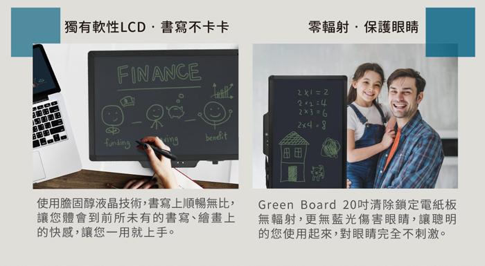 Green Board SP 20 局部清除電紙板 膽固醇液晶螢幕,書寫方便又快速